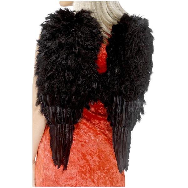 Angel Big Wings Black Feathered
