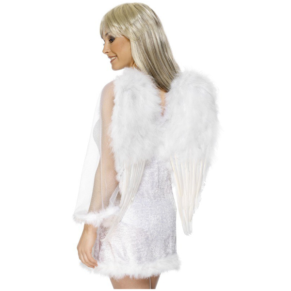 Angel Big Wings White  Feathered