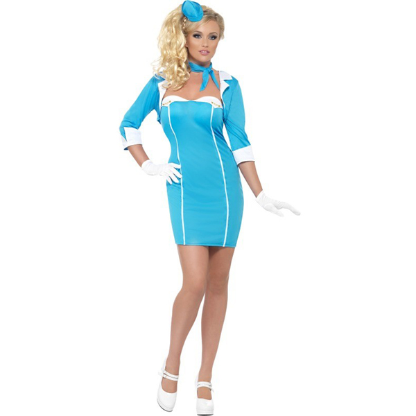 Fever Blue Air Hostess Adult Costume