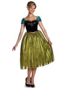 Womens Anna Frozen Coronation Deluxe Costume